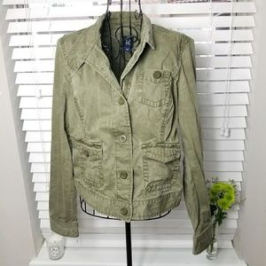 Gap Olive Green Button Up Field Jacket